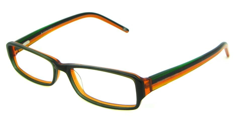 cheap eyeglass frames china Brown with Green Acetate ...