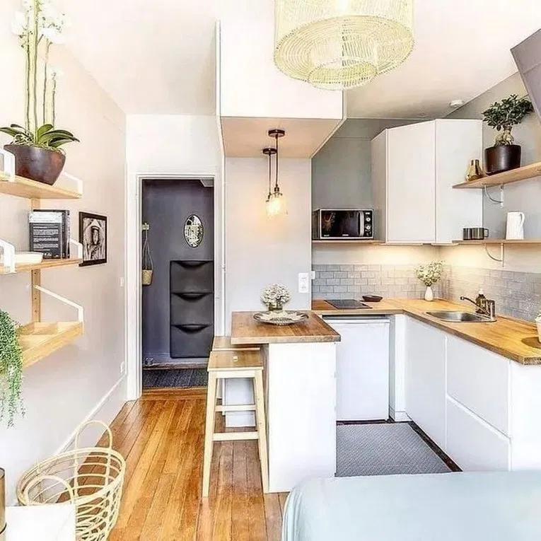 58 Creative Small Kitchen Design And Organization Ideas #smallkitchenorganization