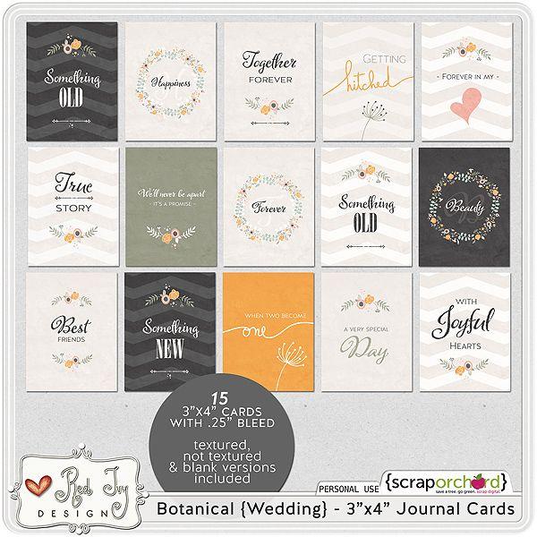 Botanical A Wedding Album Journal 3x4 Cards httpscraporchard