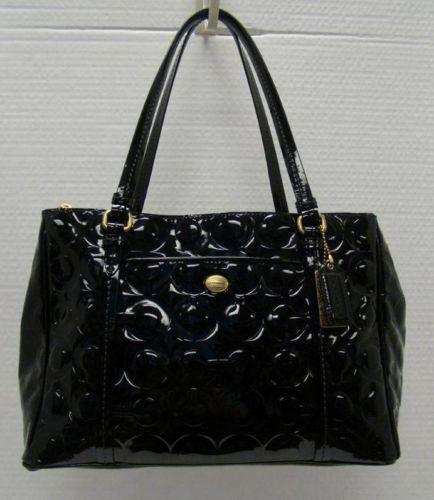 coach f24607 peyton op art embossed patent double zip handbag msrp rh pinterest com