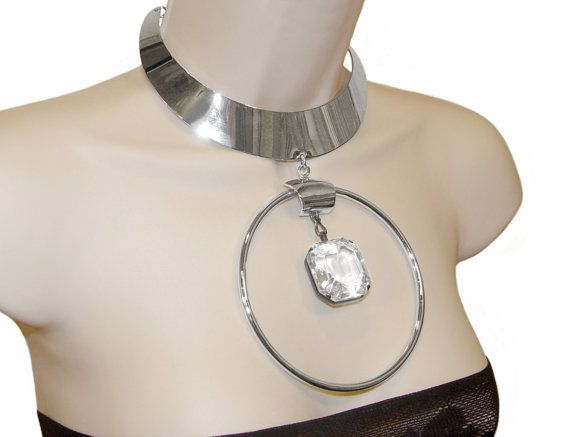 Trifari Chrome Necklace, Space Age Modernist Masterpiece, 1960s, Rare, Signed, Collectible