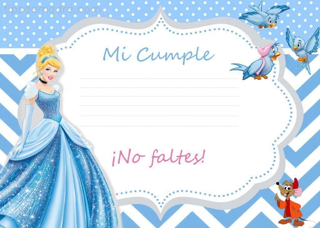 Cumplea os de cenicienta fiesta infantil fiestas - Invitacion para cumpleanos ...