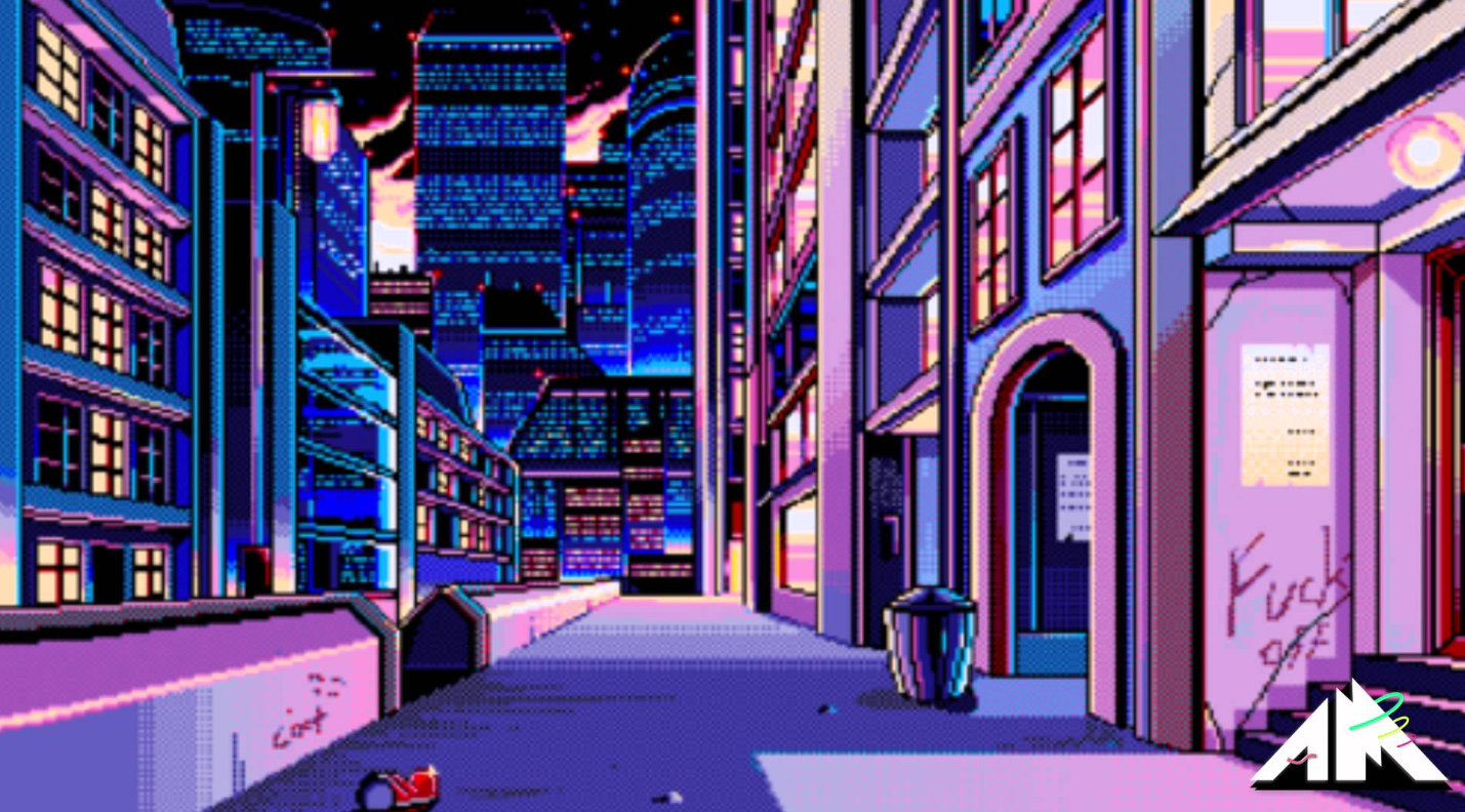 Architecture In Tokyo Vaporwave Wallpaper Pixel City Aesthetic Desktop Wallpaper