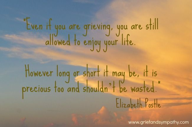 Grief Quote by Elizabeth Postle of www.griefandsympathy.com