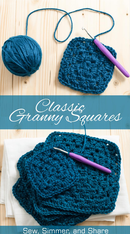 Classic Granny Square Pattern | Crochet patrones, Manta y Patrones