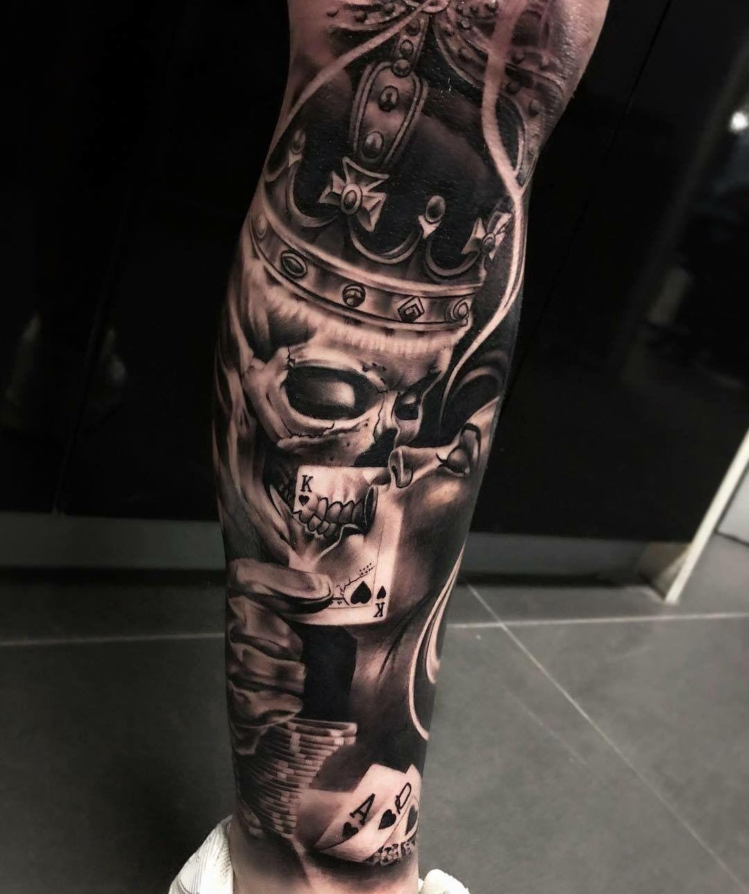 Tattoo bein mann