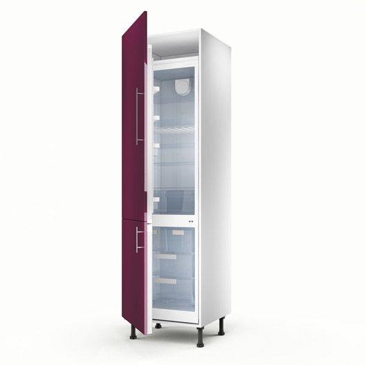 Colonne violet 2 portes Rio, H200xL60xP56 cm#cuisine #meuble