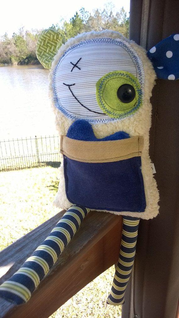 Cute monster stuffie by KingdomKuehmeier on Etsy, $15.00