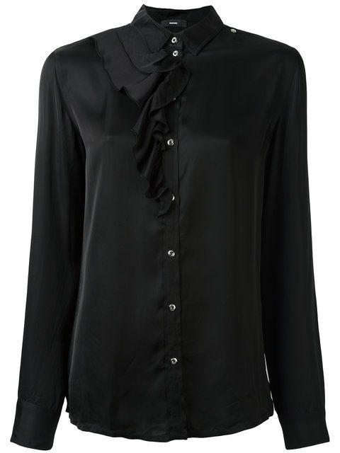DIESEL ruffle detail shirt. #diesel #cloth #shirt