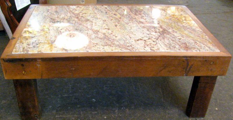 Granite and wood table. Granite table, Granite coffee