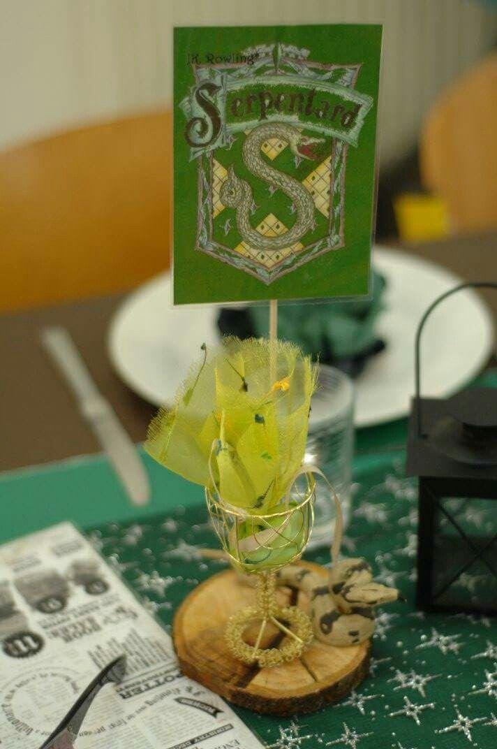 Harry Potter Wedding Party Table Decoration Serpentard Slytherin