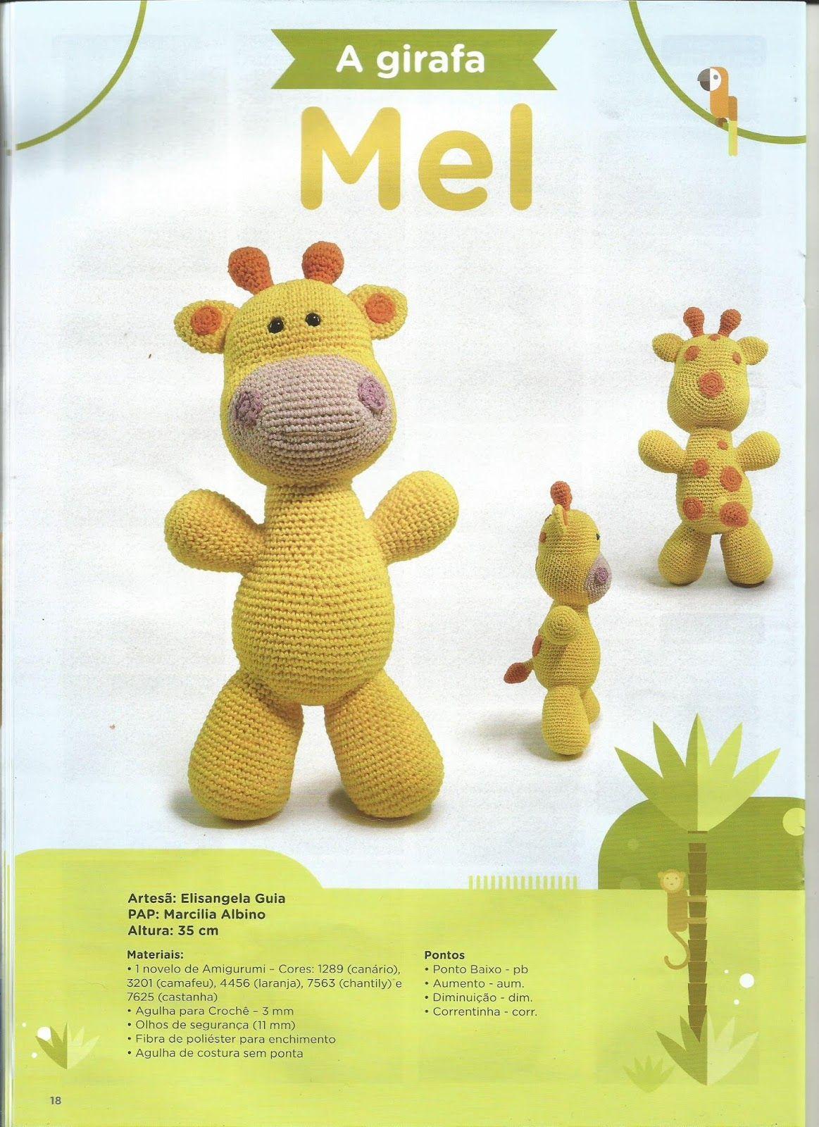 Belas Artes Crochê e Cia: Girafa Amigurumi - Receita | 1600x1163