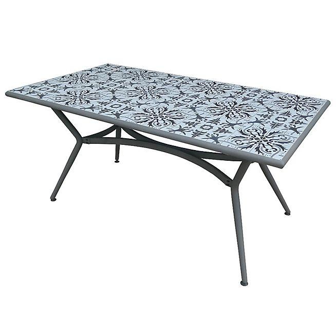 Seville Table de jardin grise en céramique (6 à 8 places) | MAISON ...