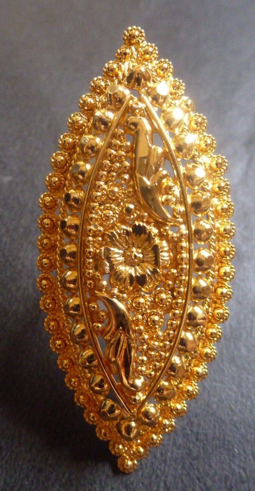 22K Gold Plated Indian 5 Cm Long Designer Wedding Bridal