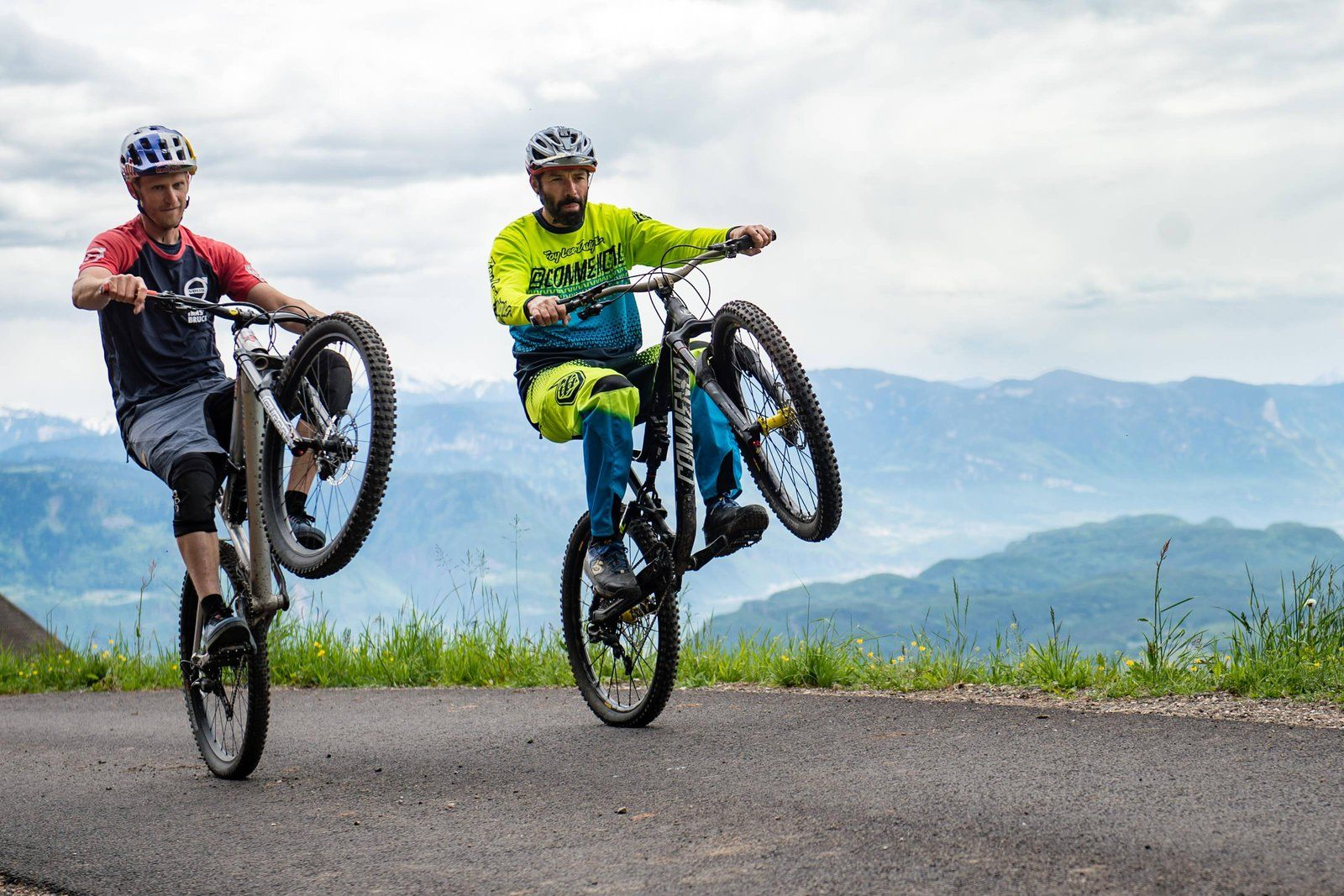 Master The Wheelie With Warner And Oehler Hardtail Mountain Bike