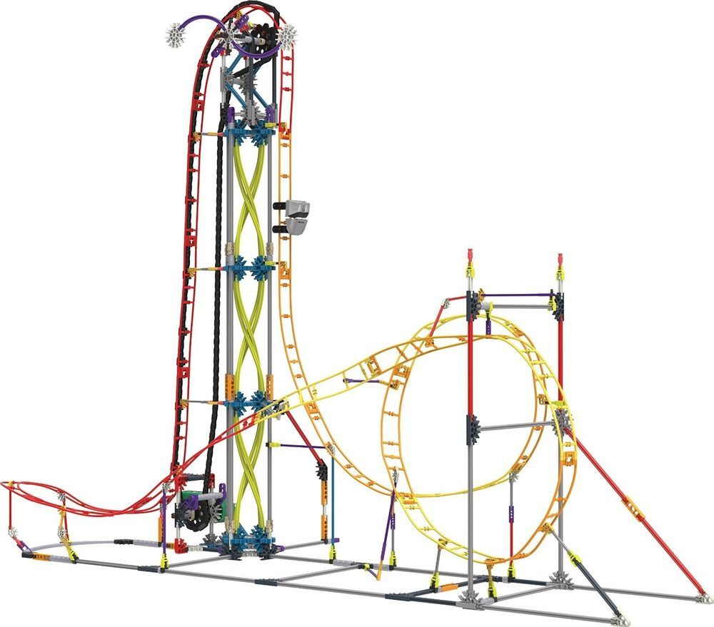 ebay roller coaster building set kid toy multi colored motorised