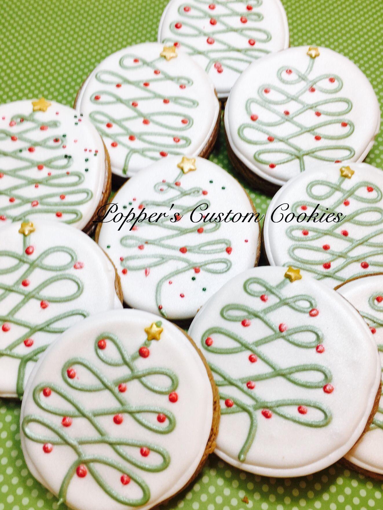 Christmas Tree Cookies (christmas cupcake icing)   Christmas cookies ...