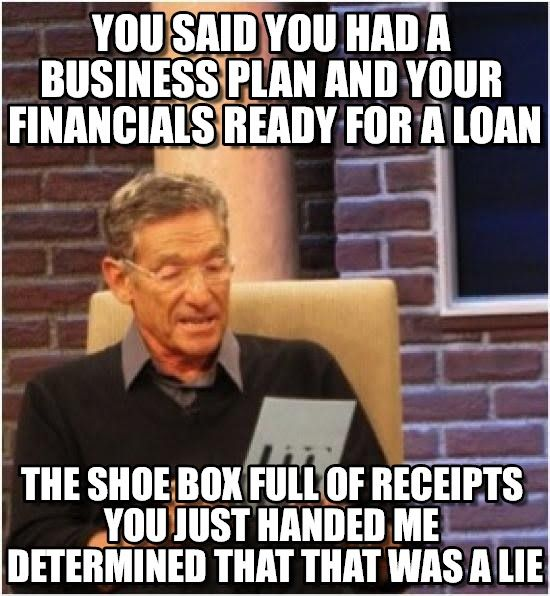Funny Memes For Accountants : Maury lie detector you said had a business plan and