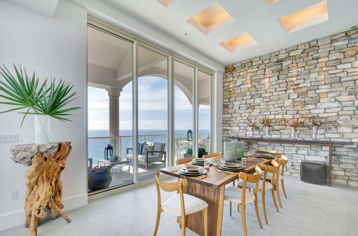 1001 ideas de decoraci n con pared de piedra o ladrillo - Decoracion paredes de piedra ...