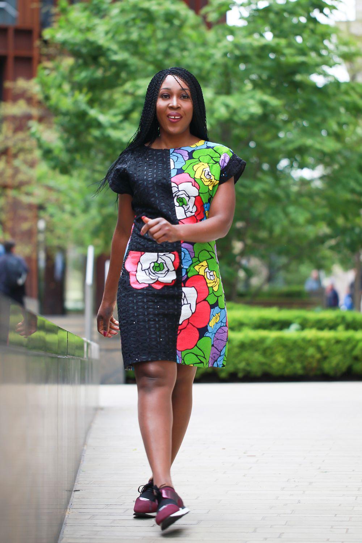 Pelumi African pencil dress / African print dress