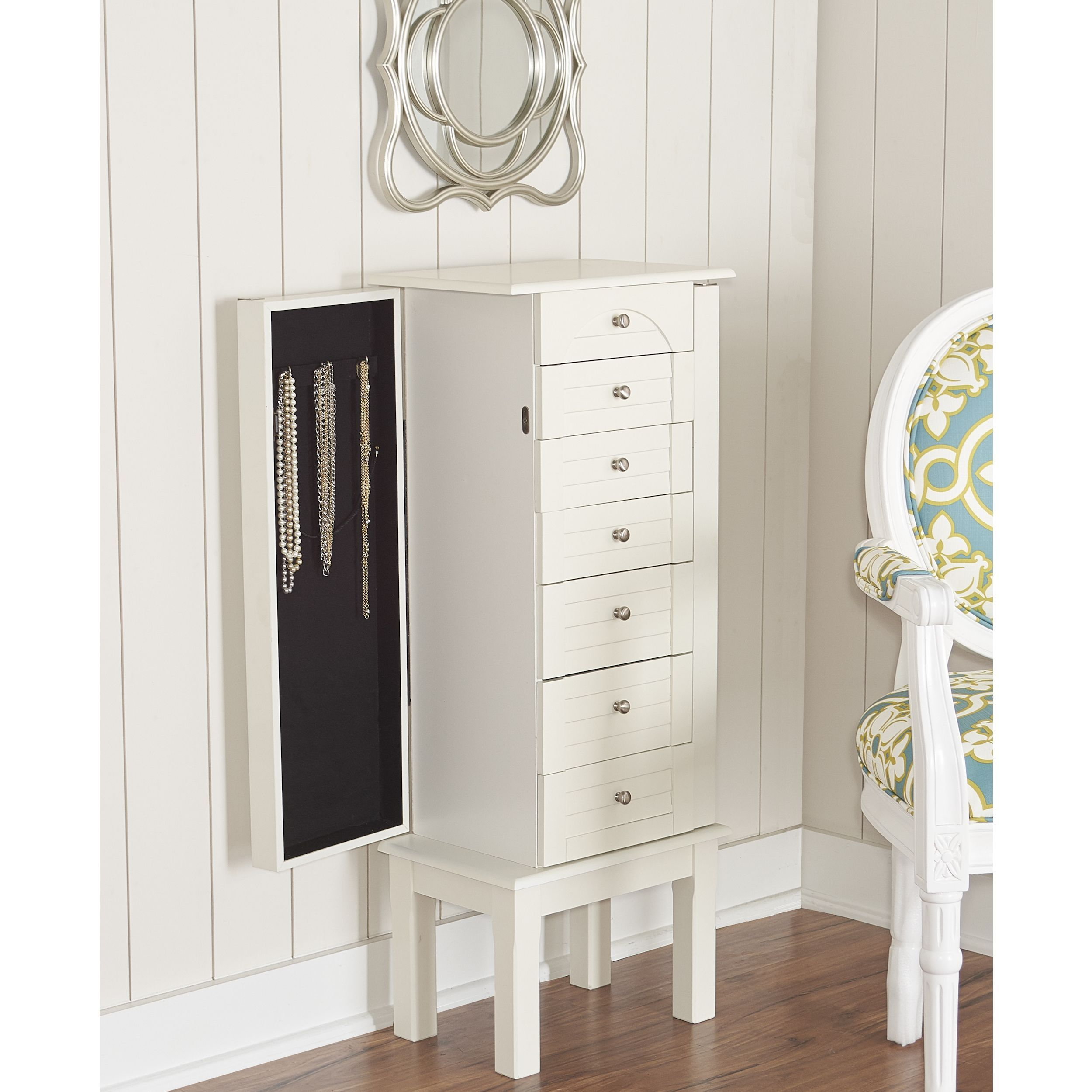 Armoire Habits Powell Jackson White Jewelry Armoire White Jewelry Armoire