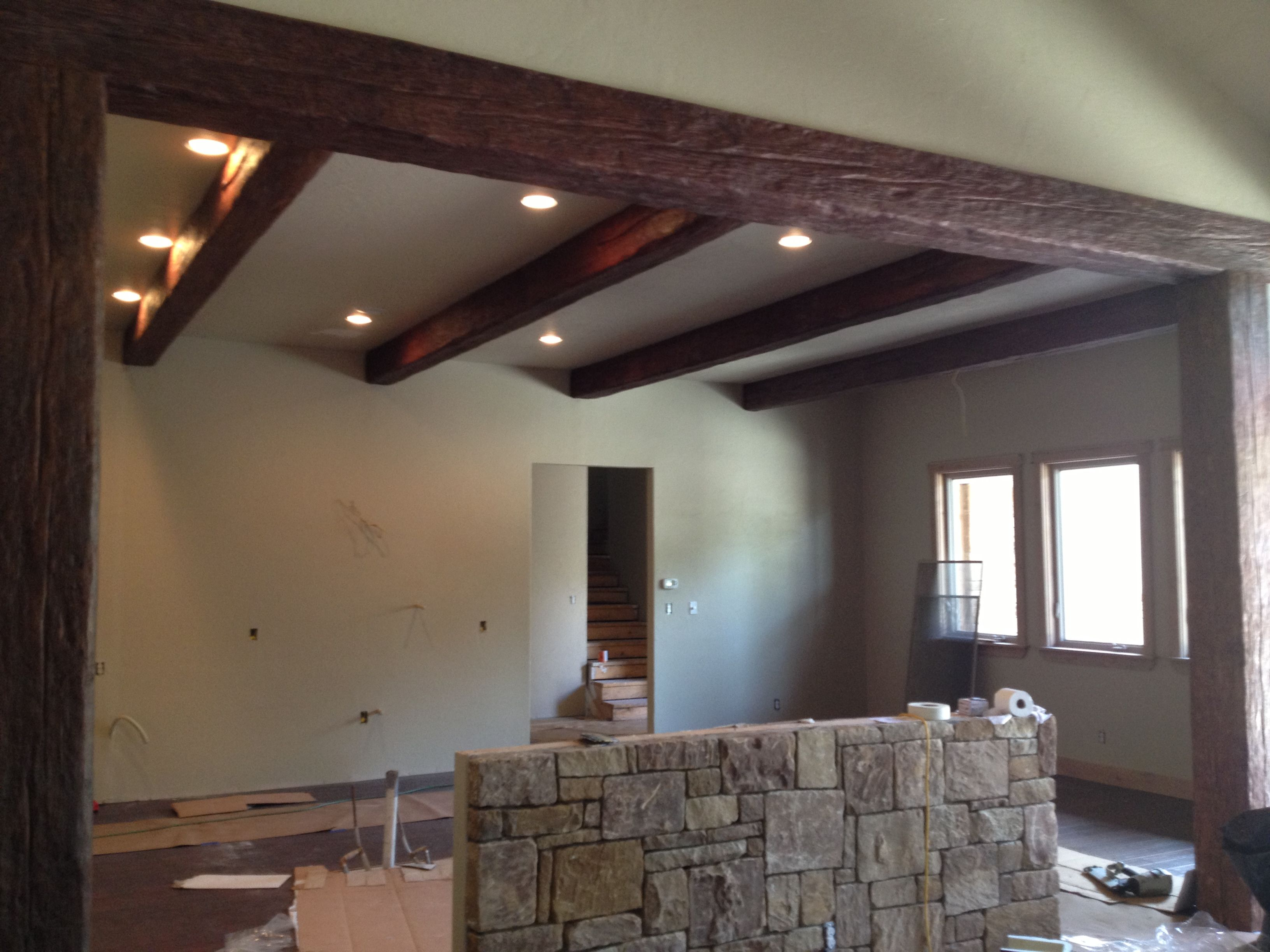 Faux wood beams for ceiling design ideas old world for Fake wood beams for ceiling