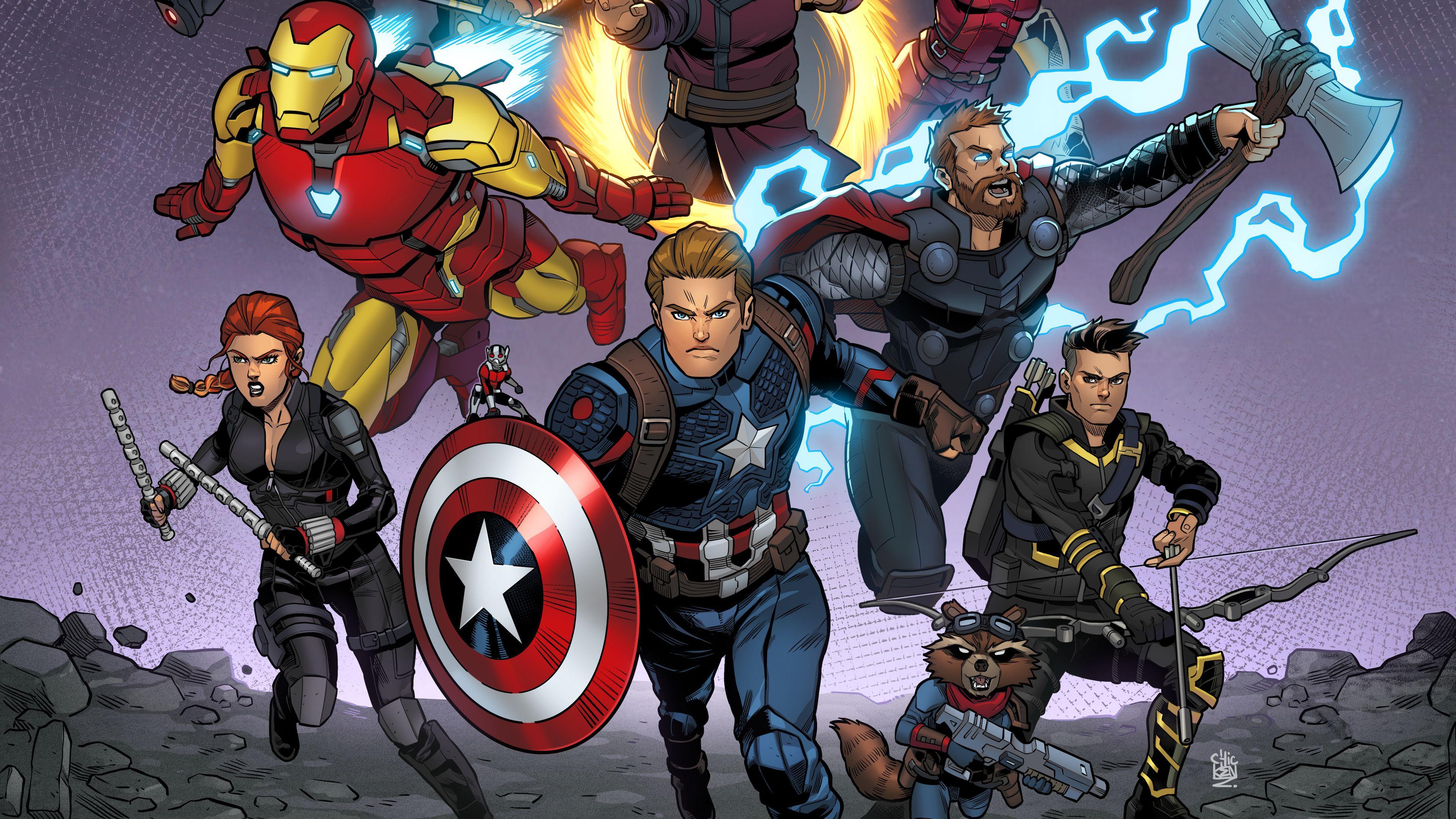 Wallpaper 4k Avengers Endgame Final Fight 2019 Movies Wallpapers