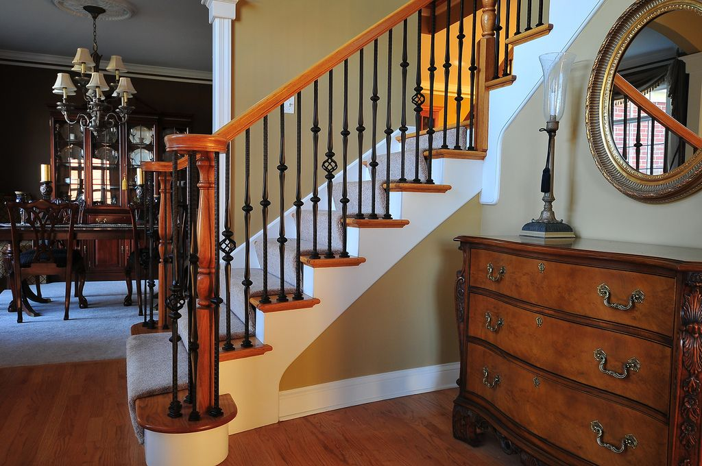 Gothic style balusters | Banister remodel, Iron balusters ...