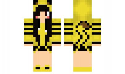 Minecraft Skin Pikachu With Black Hair Minecraft Skins Minecraft Skins Pikachu Minecraft Girl Skins