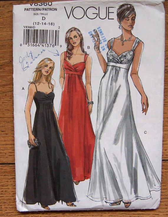 Vogue 8360 Misses/' Dress     Sewing Pattern