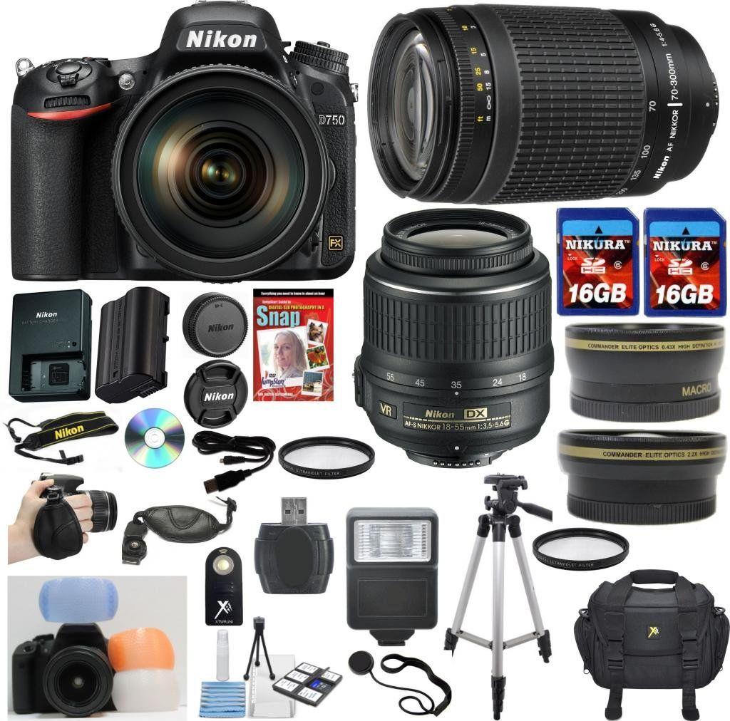 Nikon D750 Digital SLR Camera Bundle $2500 | 2015 Vision