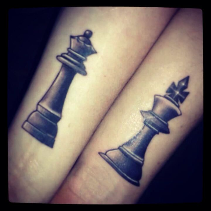 Our 1st Anniversary Tattoos King Amp Queen Chess Pieces border=