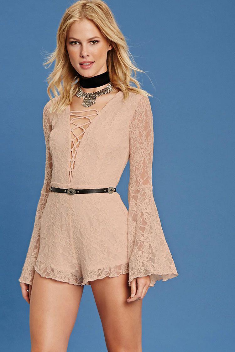 Floral Lace Romper | Store - Forever21 | Pinterest | Lace romper ...