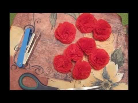 Цветы из салфеток (Schöne Blumen aus Servietten) - YouTube