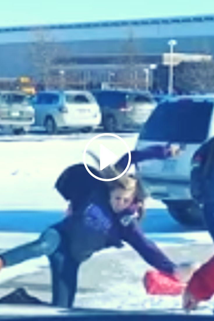 Dad Of The Year Narrates Almost 6 Minutes Of Students Slipping On Ice