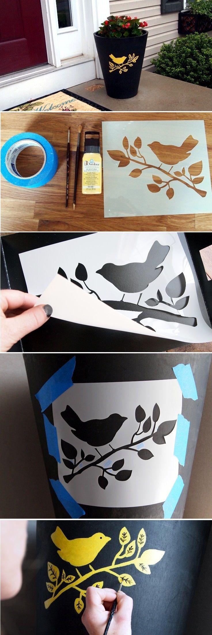 d9ead27558cab28e99f72a542d7ec9eb Paint Stencil Designs Bird House on rose vine tattoo stencils, small bird stencils, flower and vine stencils, floor cloth stencils,