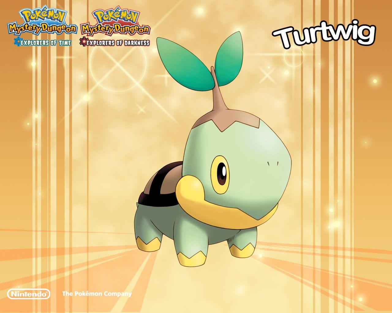 Turtwig Turtles Pokemon Hd Wallpaper Wallpaper