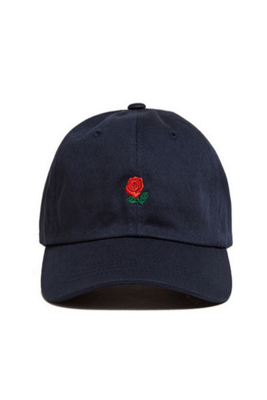 91ba9a95d9e Rose Embroidered Hat In Navy