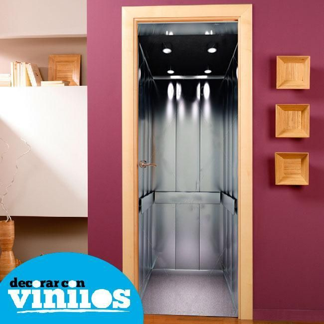 vinilo decorativo para puertas de ascensor | Vinilos para puertas ...