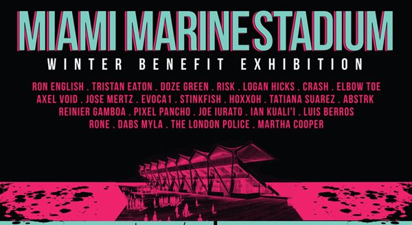 Miami Marine Stadium Winter Benefit Exhibition - http://art-nerd.com/newyork/miami-marine-stadium-winter-benefit-exhibition/