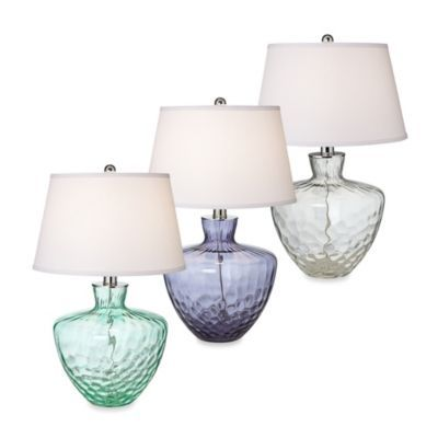 Pacific coast lighting cascade table lamp bedbathandbeyond buy pacific coast lighting cascade sea glass table lamp in blue from bed bath beyond mozeypictures Images