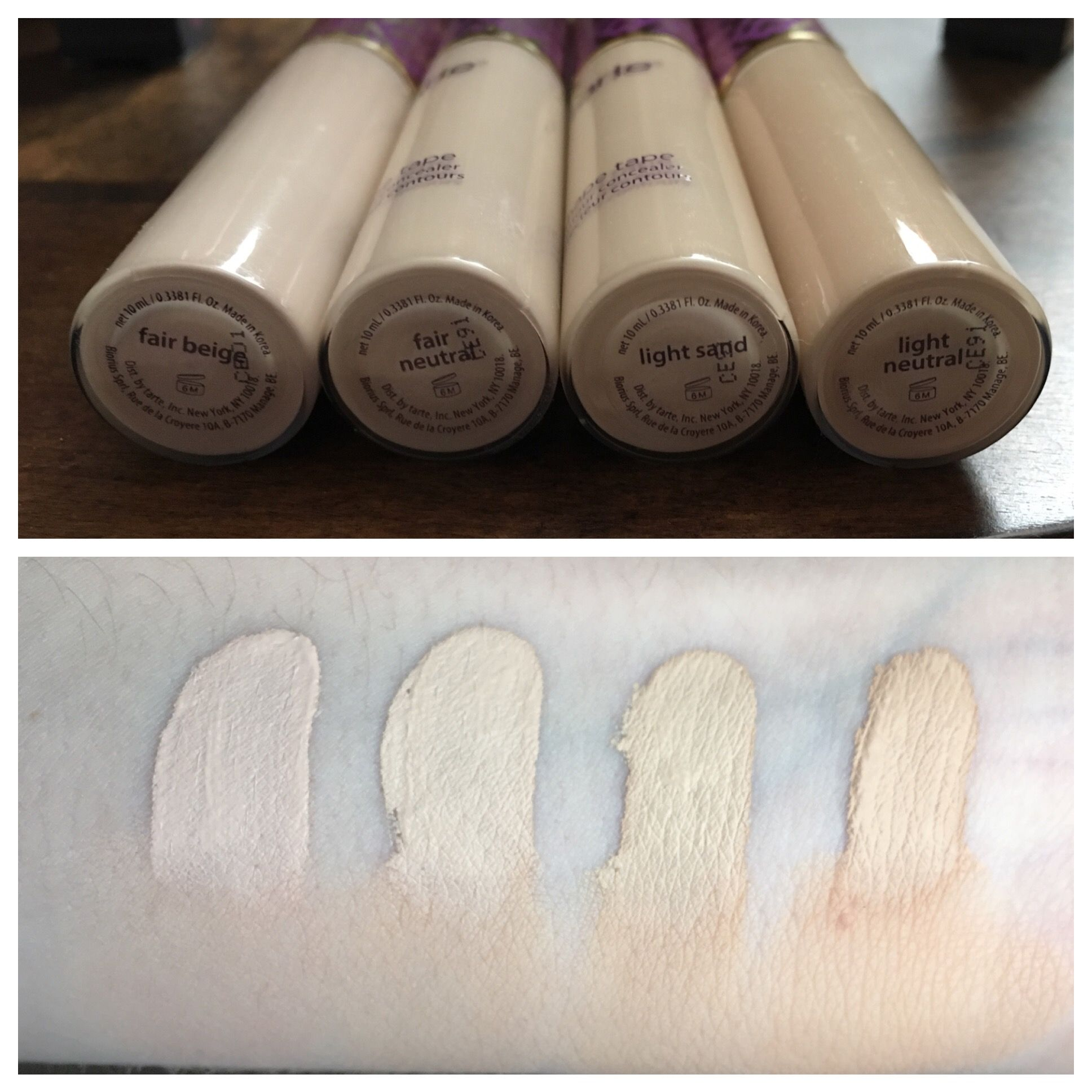 Tarte Shape Tape Concealer Swatches Swatches In Natural Light And Blended Out At Shape Tape Concealer Swatches Shape Tape Concealer Tarte Shape Tape Concealer