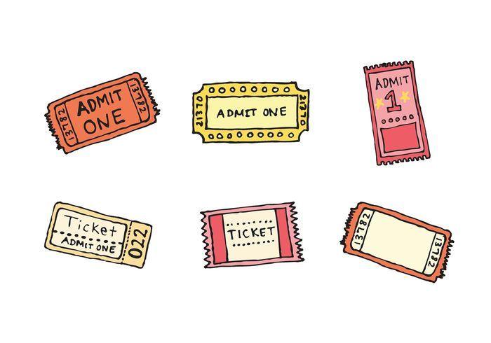 Free Concert Ticket Stub Vector Series