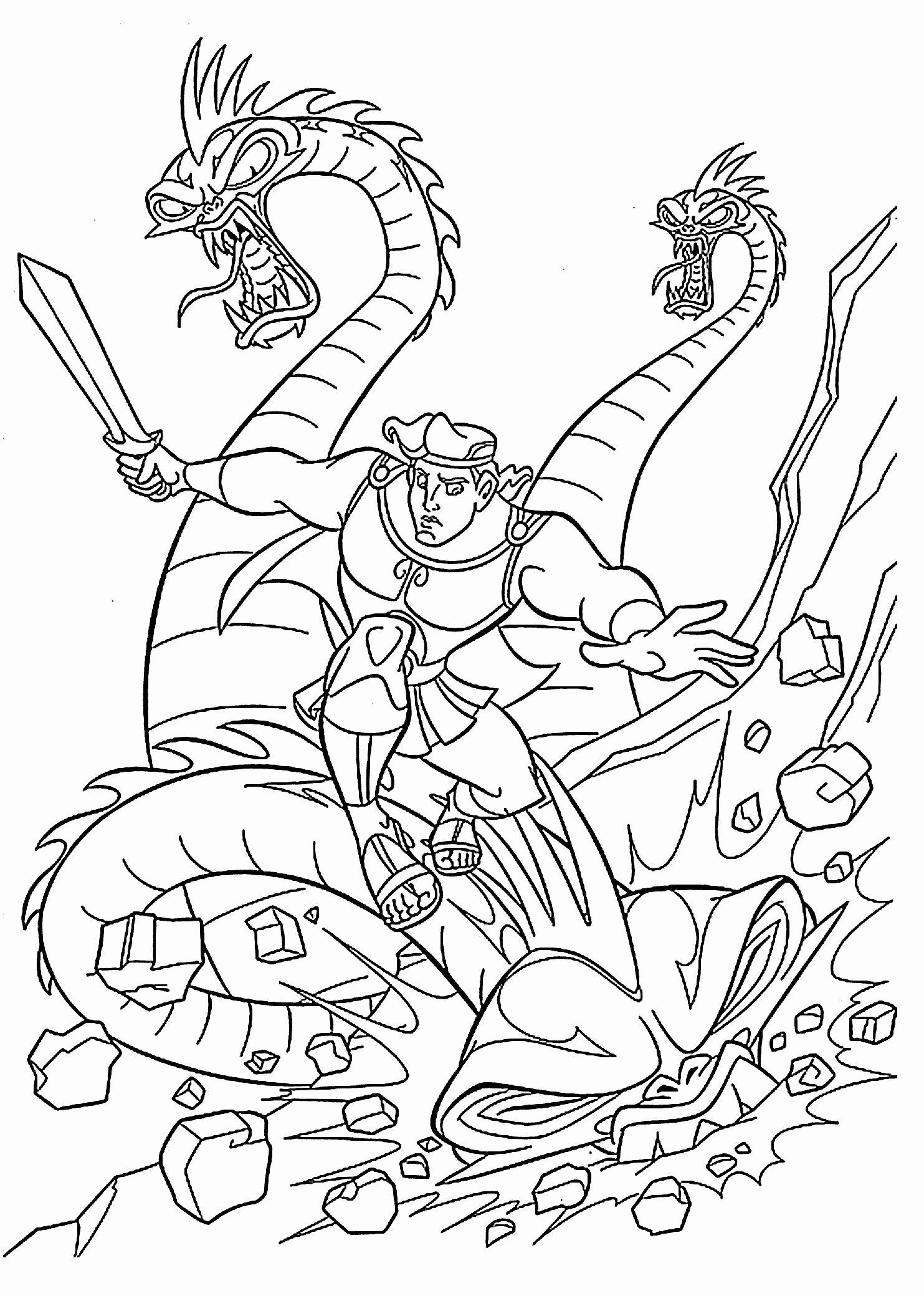 Unicorn Coloring Pages Free Printable Fresh Elegant Dragon