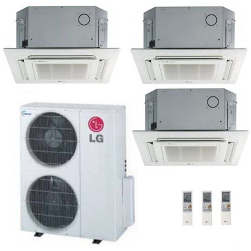 Lg 36k Btu Multi F Tri Zone Ceiling Cassette Ductless Mini Split Heat Pump System 12k 12k 12k Air Conditioning Maintenance Heating And Air Conditioning Repair