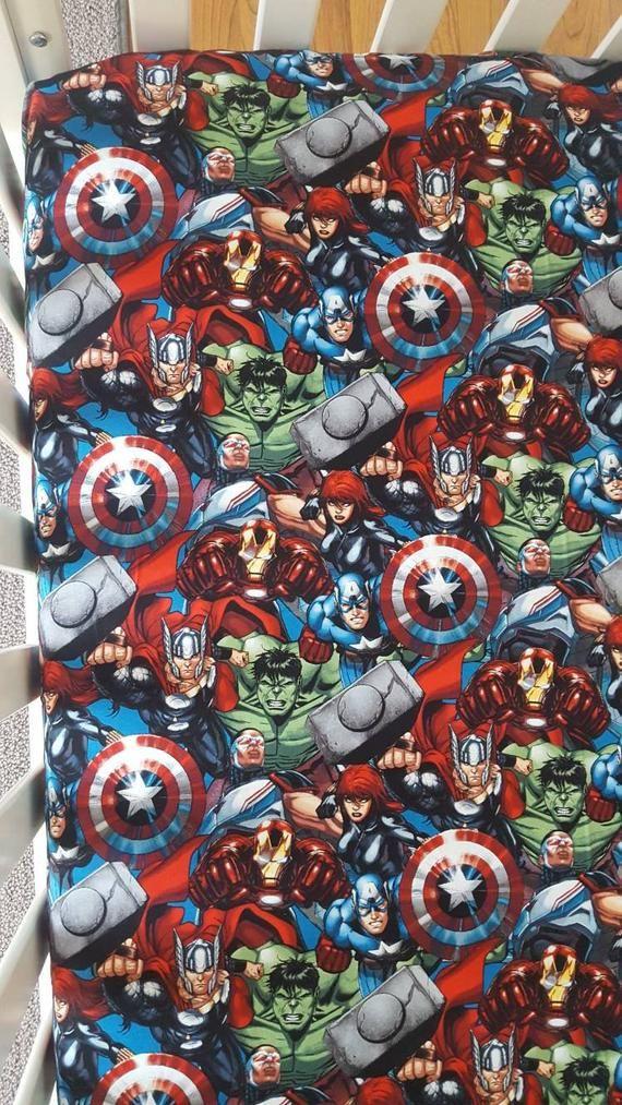 Best Marvel Avenger Superhero Crib Toddler Bed Fitted Sheet 400 x 300