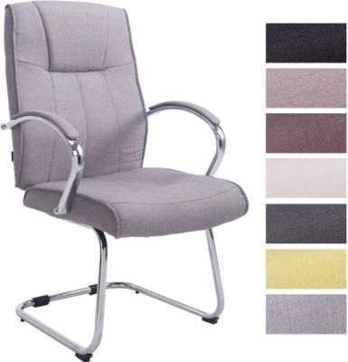 Konferenzstuhl  Besucher Freischwinger-Stuhl BASEL V2 Stoff mit Armlehne ...