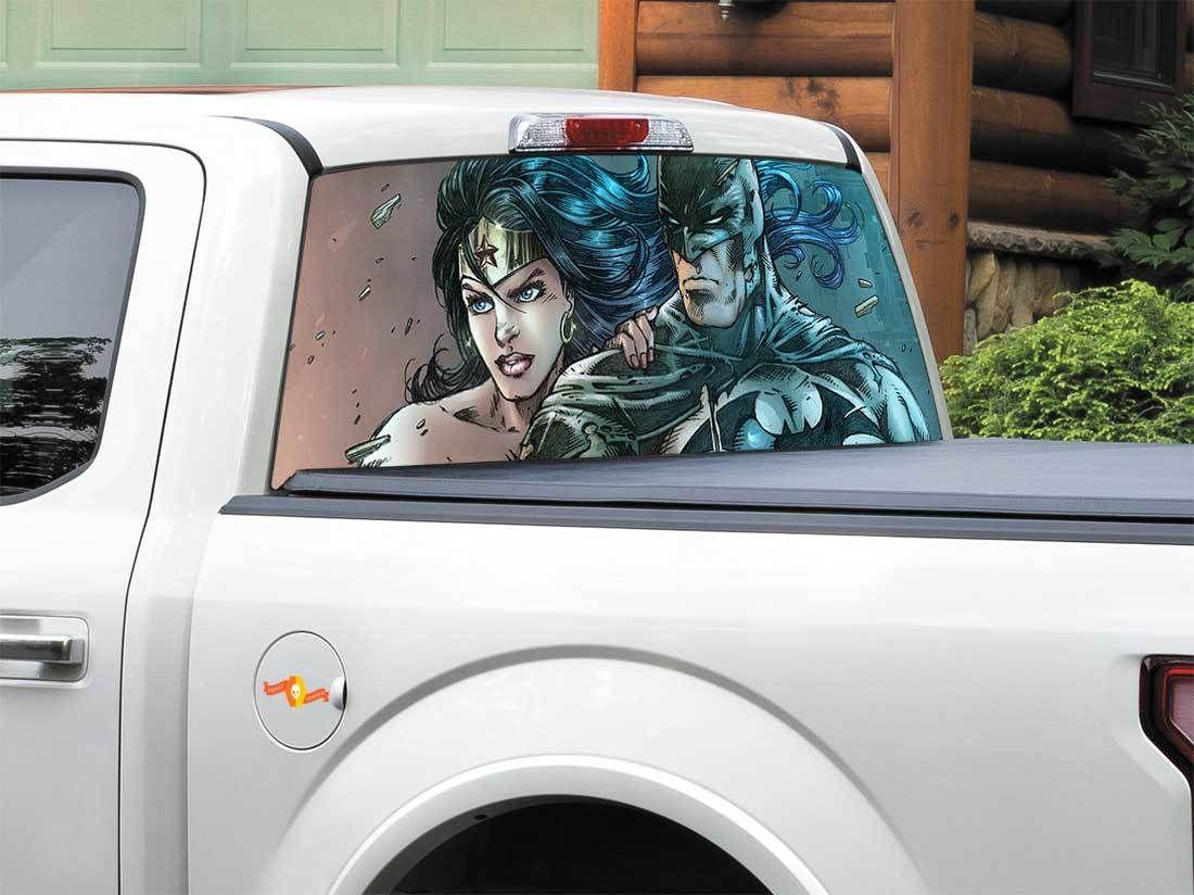 Product Batman Wonder Woman Dc Comics Rear Window Decal Sticker Pick Up Truck Suv Car Any Size Rear Window Decals Batman Wonder Woman Rear Window [ 824 x 1100 Pixel ]
