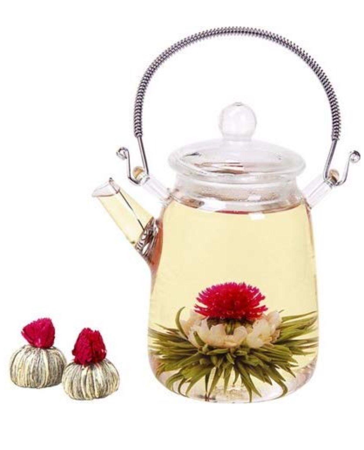 Blooming tea pods blooming tea flower tea blooming