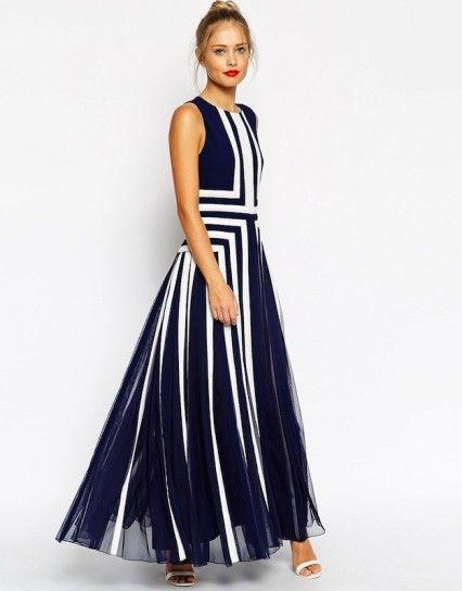 Modelos de vestidos largos casuales 2015